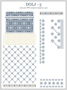 semne cusute - Dolj Embroidery Sampler, Folk Embroidery, Embroidery Stitches, Embroidery Patterns, Cross Stitch Borders, Cross Stitch Flowers, Cross Stitching, Cross Stitch Patterns, Folk Fashion