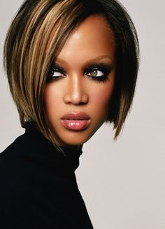 Tyra Banks - I am liking this hair cut….Uuummm?