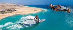 Go to Sotavento to do some kitesurfing - retreat style.