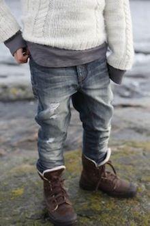 Denim + Knit. <3 // Little Svandinavian. Always love Scandinavian design and fashion. Cute look for the boys:)