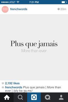 Plus que jamais