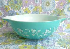 Rare Pyrex Blue Gooseberry Cinderella Pyrex Bowl by TwoTimeVintage