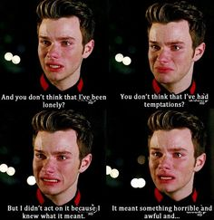 Chris Colfer should not be allowed to cry it hurts me too much okay thanks