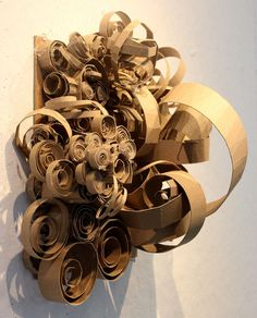 Clara Lieu, RISD Project Open Door, Chipboard Sculpture Assignment based on abstractions of personality traits, chipboard, 2015