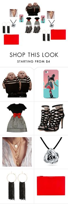 """""""Tim Burton's Tweedle Dee and Tweedle Dum"""" by maddie-hatter23 on Polyvore featuring Casetify, Bill Blass, Bling Jewelry, Bebe and Givenchy"""