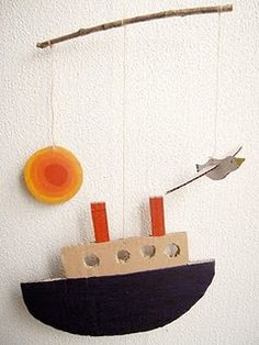 love this mobile for a little boy party...could hang over the table! Let your imagination be your guide!