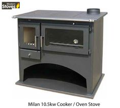 Wood Burning Range Stove Oven Cooker Multi Fuel Milan, Wood Stove Modern Stoves in Home, Furniture & DIY, Fireplaces & Accessories, Heating Stoves | eBay