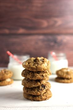 Wicked sweet kitchen: Oatmeal chocolate chip cookies with peanut butter