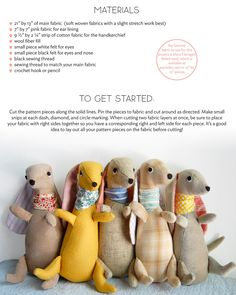 PDF Pattern--Stuffed Ollie Doll. $10.00, via Etsy.