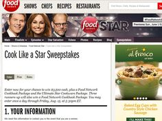 Cook Like a Food Network Star Sweepstakes