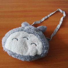 "15"" Cute Totoro Stuffed Animal Plush Toy Handbag - Grey. 280x74.4x240mm. $10.99 #totoro #bag #plushie"