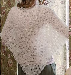 This shawl was constructed in the traditional Orenburg way and knitted in one piece: