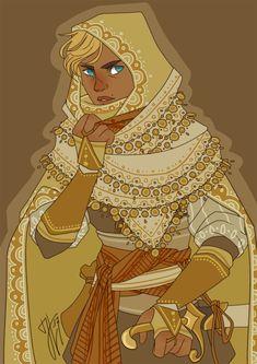 ketunhanska: human paladin of a sun & stars deity for a D&D campaign #dnd #oc