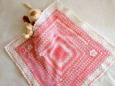Babygirl, Newborn Baby,  Pink, White, Afghan Blanket, Bamboo, Baby, Pink Blanket, Babyshower, Baby gift, Baby girl,  OOAK