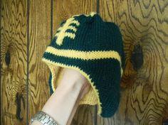 Knitting pattern The Ultimate Football Hat PDF by PrettyKnitShop