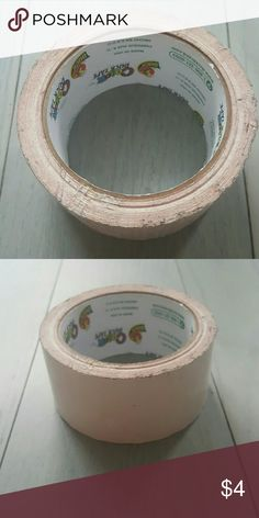 Roll of white duct tape Used once duck Other