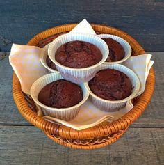 Muffins di cioccolato fondente