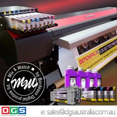 #bordeauxink #ecosolvent ink for #rolandprinter Gentle on your #largeformatprinter with the same colour as OEM ink.  www.dgsaustralia.com.au sales@dgsaustralia.com.au Save up 30% on your ink costs.  No flushing required.  Easy plug and play.  No need to re-profile.  Contact us now and start saving on your #inkcosts  www.dgsaustralia.com.au sales@dgsaustralia.com.au 1300 303 825