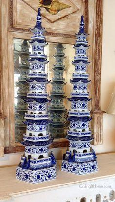 http://www.pinterest.com/joliesarts ∗ »☆Elysian-Interiors ♕Simply divine #Interiordesign ~ Chinese & Asian style Interiors ~ blue & white porcelain