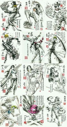 Full model One Piece Manga Anime One Piece, One Piece Fanart, Manga Art, Anime Art, Monkey D Luffy, Anime Tatoo, Video Game Anime, One Piece World, One Piece Pictures