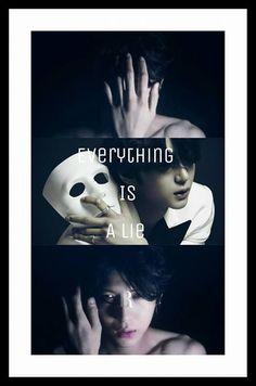 'everything is a lie'~  Leo 정택운 VIXX  'beautiful liar'~ Wallpaper Lockscreen