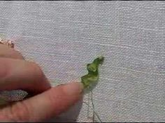 I ❤ ribbon embroidery . . . Learn how to make gathered leaves.