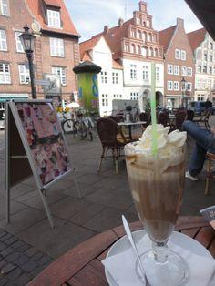Ice coffee o'clock in Lüneburg One Day Trip, Day Trips