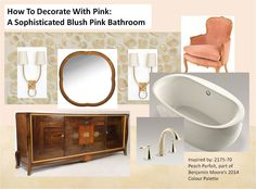 How to decorate with pink: a sophisticated blush pink bathroom