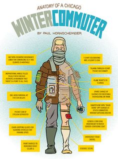 Anatomy of a Chicago Winter Commuter - Chicago magazine - January 2013 - Chicago
