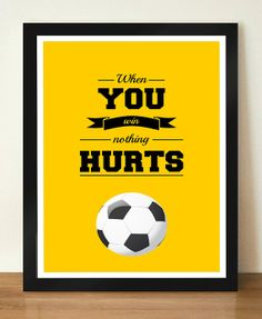 When you win nothing hurts Inspirational by DesignSailors on Etsy, $8.00