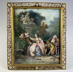 Antique French Grand Tour Souvenir Miniature Painting aprés Boucher, Romantic Era Portrait Grand Tour, Antique Frames, Antique Art, Types Of Portrait, Miniature Portraits, Famous Words, Old Paintings, Famous Artists, The Guardian
