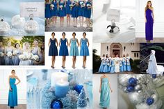 Inspiration for a blue, white and sliver winter wedding