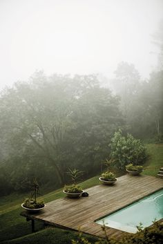 planters on deck - greg and roche dry's home in KZN