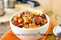 Hearty Pasta Fagioli in 30 Minutes from theslowroasteditalian.com #dinner #recipe #pasta