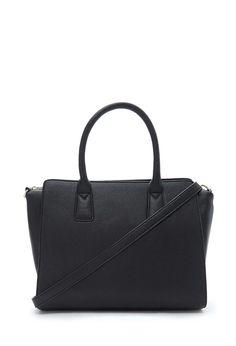 FOREVER 21 || Structured faux leather satchel | Bolso-maletín de piel de imitación