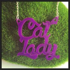 The (Crazy) Cat Lady Acrylic Necklace