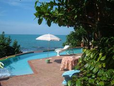 Poolside at your three-bedroom #villa. #Jamaica