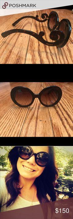 Prada sunglasses Prada sunglasses, barely worn in perfect condition. Do not have original case & is reflected in price. Prada Accessories Sunglasses