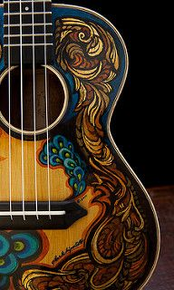 Hand Painted Guitars, Ukuleles, Lichty Guitars-3 | by cwds