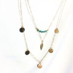 Two Layer Chain w/ Turquoise