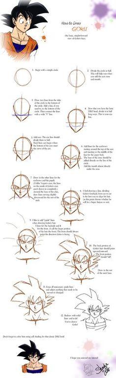 How to DBZ - GOKU by Kyggergyle