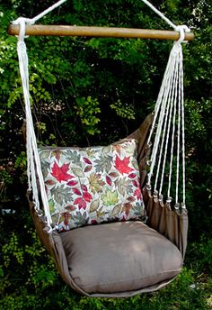 Hammock Chair - I would love to have one of these...and a tree to hang it in!  I can see many hours of my kindle and cold beer!