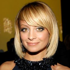 Nicole Richie hairstyle with bangs