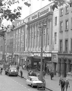 The Carlton Cinema, O'Connell Street, October 1968 Dublin Street, Dublin City, Old Pictures, Old Photos, A Whole New World, Dublin Ireland, Movie Theater, Back In The Day, October
