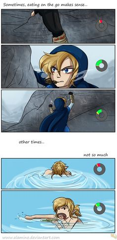 Here it is my very first comic page This is Breath of the Wild related (can you guess where it takes place? ) the following events actually happened to me while playing. I did not focus on the shad...