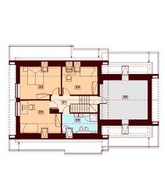 DOM.PL™ - Projekt domu DN Lisandra 2M CE - DOM PC1-60 - gotowy koszt budowy House Plans, Floor Plans, Exterior, Extension Ideas, How To Plan, House Floor Plans, Outdoors, Home Floor Plans, Home Plans