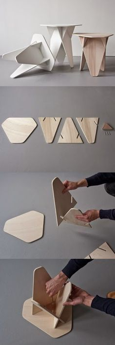 """Faça vc mesmo....Bancos com estilo e estrutura tipo """"egg-box""""."""