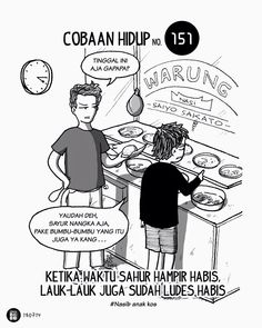 Kehabisan sahur Funny Cartoons, Funny Comics, Life Problems, San Andreas, Cheer Up, Wallpaper Quotes, Funny Images, Baby Photos, Slogan