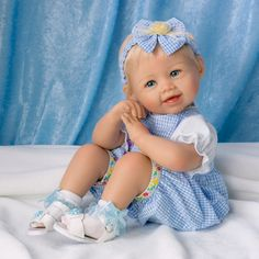 ashton drake baby dolls   Ashton Drake Madison Poseable Lifelike Baby Girl Doll Bonnie Chyle