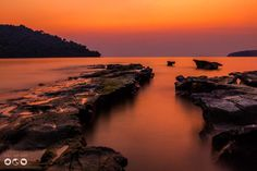 Beautiful sunset on Koh Ta Kiev island off the coast of Cambodia. http://boboandchichi.com/
